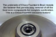 Chocolate Fountain removable base basin