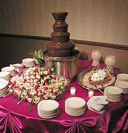 Chocolate Fountain Dessert Buffets : chocolate fountain table set up - pezcame.com